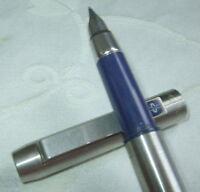 Parker 25 Stainless Steel Fountain Pen Medium Pt & Converter In Box