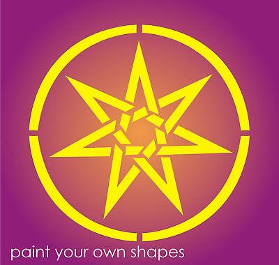 "Joanie Stencil 10/"" Celtic Moon Star Shape Halloween Witch Art Irish Symbol Signs"