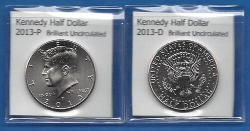 Kennedy Half Dollars 2013-P and 2013-D from Mint Rolls