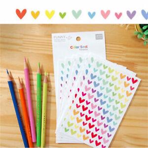 6-Sheets-Colorful-Star-Love-Shape-Stickers-For-School-Children-Reward-DIY-Decor