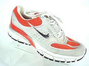 Nike Air ZOOM PLUS 314018-801 Womens 6 Orange Bone Black Suede Running Shoes