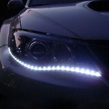 Coche faros LED bombilla luces de cadena 2 X Autoadhesivo Blanco Brillante 12v 50cm Reino Unido