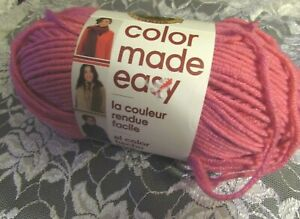 NEW-LION-BRAND-COLOR-MADE-EASY-Pink-Lemonade-Yarn-Acrylic-Bulky-200-g-Turkey
