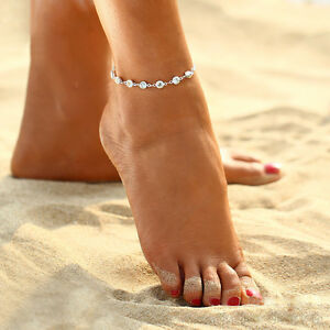 Chic-Crystal-Rhinestone-Ankle-Bracelet-Women-Anklet-Chain-Foot-Beach-Jewelry