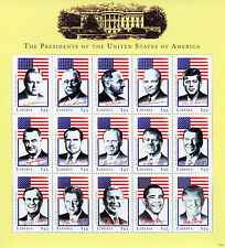 Liberia 2017 MNH US Presidents of USA Trump Obama JFK Nixon Ford 15v M/S Stamps