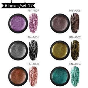 RBAN-NAIL-5ml-Spider-UV-Gel-Polish-Elastic-Painting-Soak-Off-Nail-Art-UV-Gel-Set