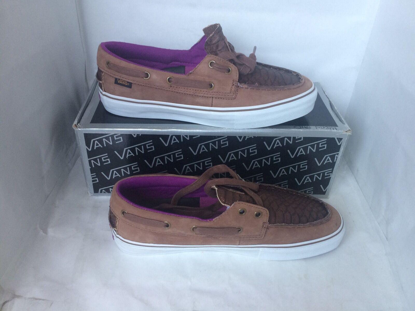Vans Vault Zapato Del Barco Cacao Marrón Serpiente escala DEADSTOCK Supreme