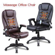 Massage Office Chair Ergonomic Heated Vibrating Function Computer Desk Seat Pu