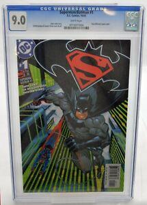 CGC-Universal-Grade-9-0-DC-Comics-SUPERMAN-BATMAN-1-10-03-FREEPOST