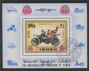 Yemen-1970-voitures-HUMBER-1900-PERF-feuille-CTO