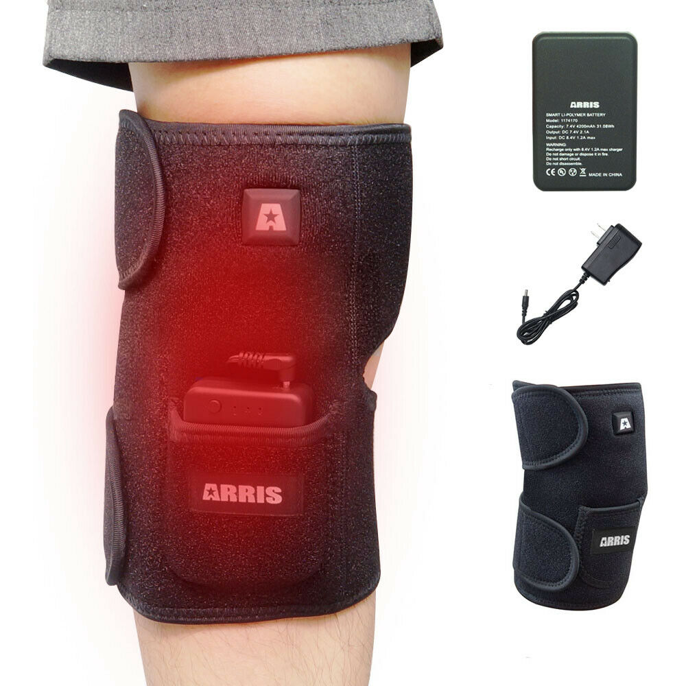2019  XL ARRIS Heated Knee Brace Wrap 4200Mah Battery ElectricTherapy Heating Pad  on sale
