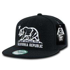 Whang Flat bill California Republic Bear Snapback Hat Baseball Cap