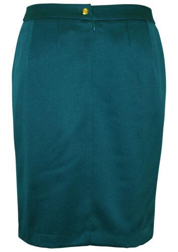 Bruno Banani Bleistiftrock Rock Skirt Abendrock Business Satin petrol 144780