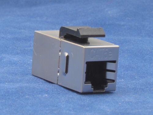 50 X pcs Lot CAT5e Shielded Inline RJ45 Keystone Wall Coupler Jack Adapter 8P8C