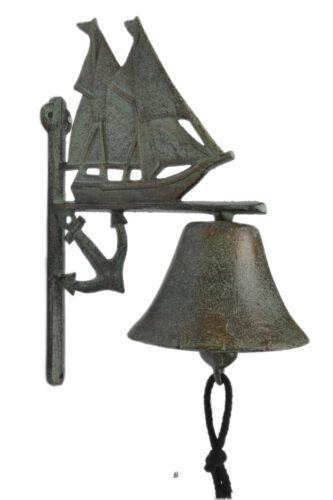 Antique-bronze Schooner Boat Anchor fonte déjeuner Antique Porte de Jardin de Bell