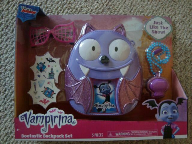 Disney Vampirina Bootastic Backpack Set NEW