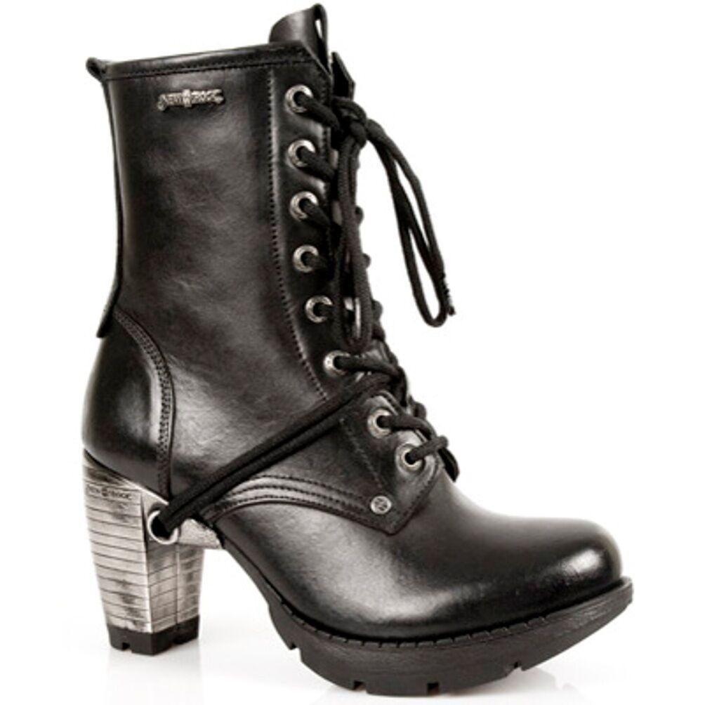 New Rock bottes Femmes Punk Gothic Bottes - Style TR001 S1 Noir
