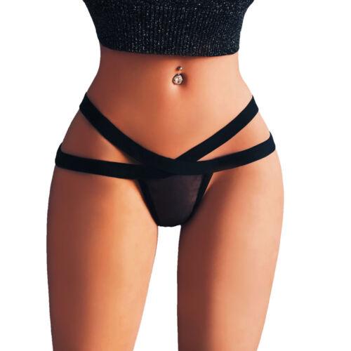Women Lingerie G-string Mesh Briefs Underwear Panties T string Thongs Knickers