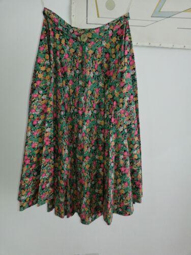 rosa '70 anni piccola Gonna floreale vintage verde qxAFznwnX5