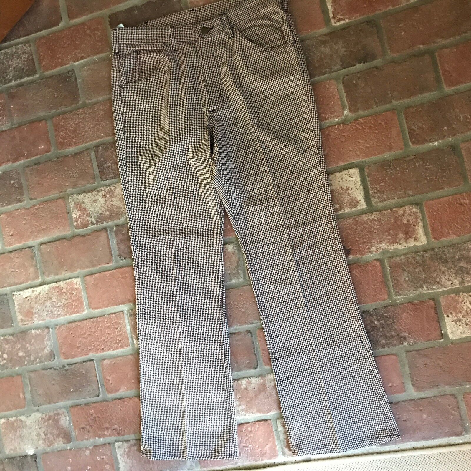 Vintage Lee Women's Size See Measurements Houndstooth Wine and bluee Pants