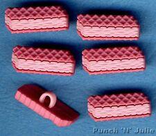 Rosa Oblea-Galleta De Horno Hornear Sweet Cookie Novedad vestirla Craft Botones