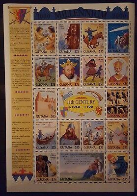 Briefmarken Guyana Millennium Kb.,postfrisch 14 Guyana