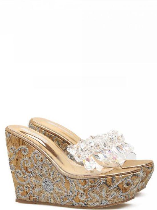 Hausschuhe keilabsätze hoch 12 cm elegant holzschuhe gold transparent elegant cm simil 1082be