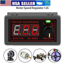 12v 24v 60v Voltage Regulator Dc Motor Speed Controller Pwm 500w Led Display 12a