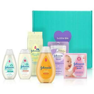 Johnson-039-s-baby-gift-set-Newborn-Shampoo-Wash-Lotions-Cleasing-Swabs-amp-pads