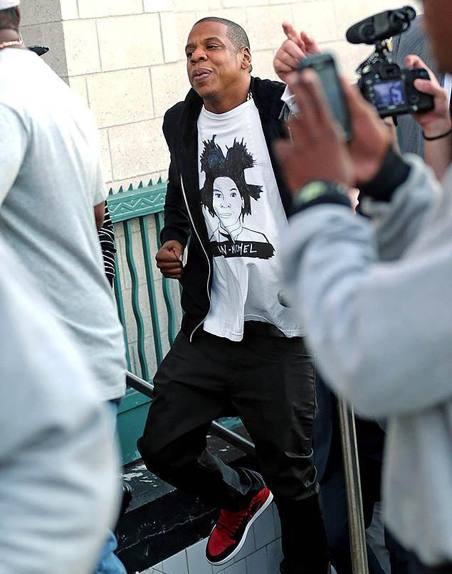 NWT DeerDana Jean-Michel Basquiat Unisex Tee aso Jay-Z; XL