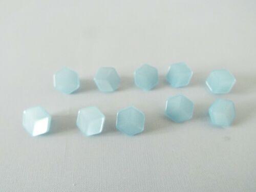 10 x botones efecto Cubo Hexagonal Calidad Brillante 18L 11.5mm Elección De Colores