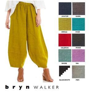BRYN-WALKER-Heavy-Linen-OLIVER-PANT-Balloon-Panel-Hem-XS-S-M-L-XL-SPRING-2018