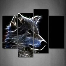 Grey Wolf Wall Art Painting Pictures Print On Canvas Animal The Picture For Home