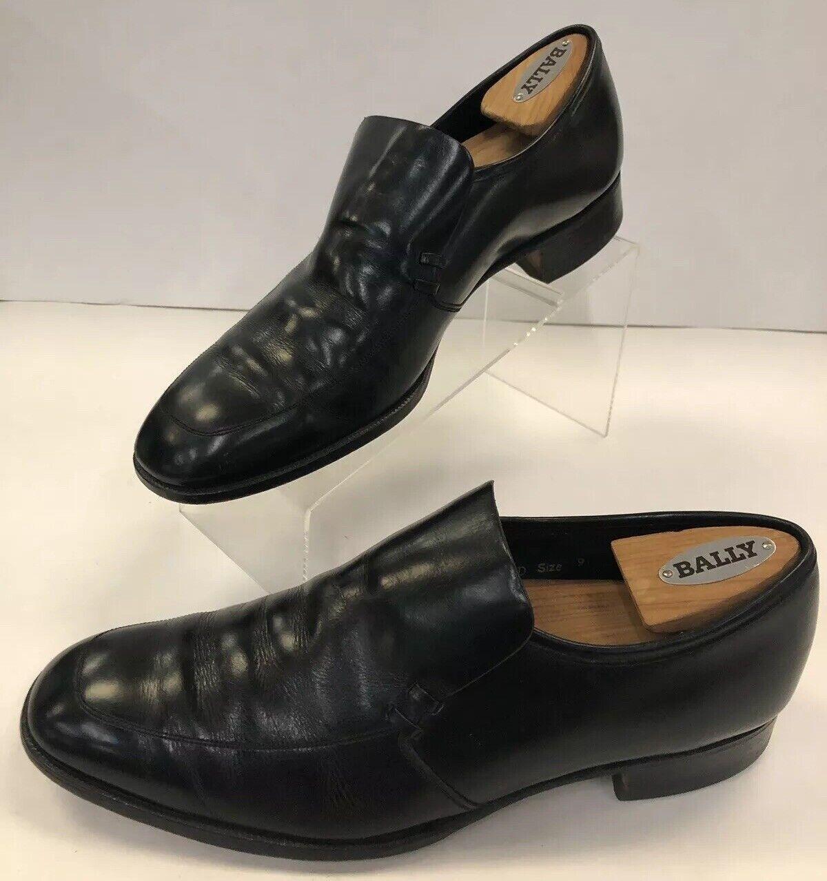 Chaussures par blanchall Chaussure no 2733 dernier 5226 Taille 9 D en cuir noir Robe Mocassins