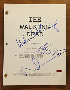 GFA-The-Walking-Dead-X4-CAST-Signed-Full-49-Page-TV-Script-AD3-PROOF-COA
