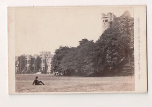 Vintage-CDV-Cardiff-Castle-View-of-the-Inner-Court
