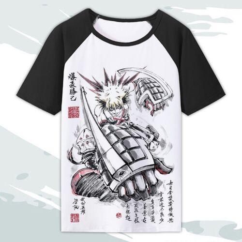 My Hero Academia Boku no Hiro Akademia Anime Manga T-Shirt Cosplay Kostüme Neu