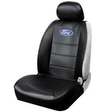 "Plasticolor ""Ford"" Logo Sideless Leatherette Black Seat Cover 3Pc Set Car/SUV"