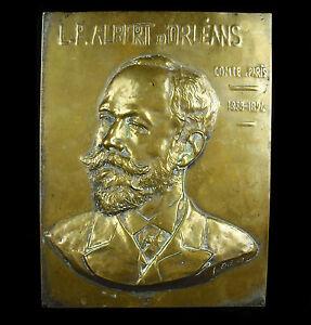 Louis Philippe Albert D'Orleans Comte de Paris Portrait IN Bas Relief On Bronze