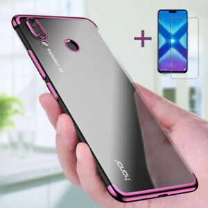 Details about For Huawei Honor 8X Full Cover Case TPU Clear Case & Tempered  Glass