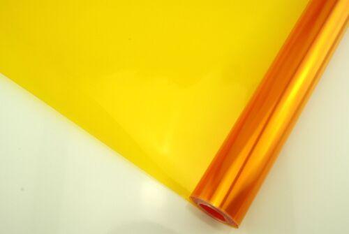 Teinte Film Anti-Brouillard Projecteur diapositive Orange couleur 100 x 30 cm NEUF