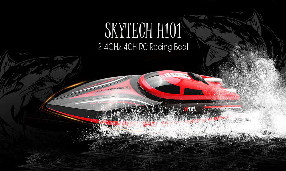 Skytech H101 High Speed RTR RC Boat 2.4G 30KMH Brushed Water Boat Self Righting
