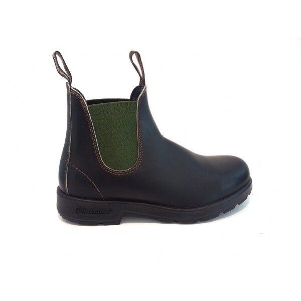 Rechnung 10% Blaundstone 519 Stiefeletten Braunes Leder Elastisch Grün Schuhe