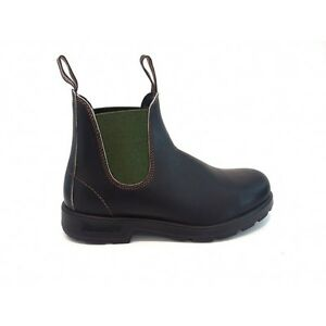 cheap for discount 82a79 72748 Details about Blundstone 519 Leather Ankle Boots Brown Elastic Green Boots  Shoes- show original title