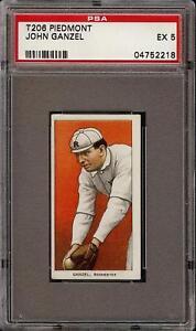 Rare 1909-11 T206 John Ganzel Piedmont 350 Rochester PSA 5 EX