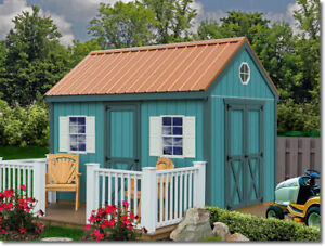 Millcreek 12x20 Wood Storage Shed Kit ALL PreCut t