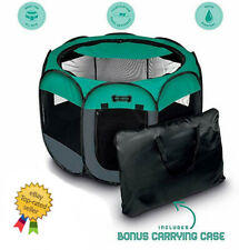 Ruff N Ruffus Portable Foldable Pet Playpen Carrying Case and Collapsible Travel