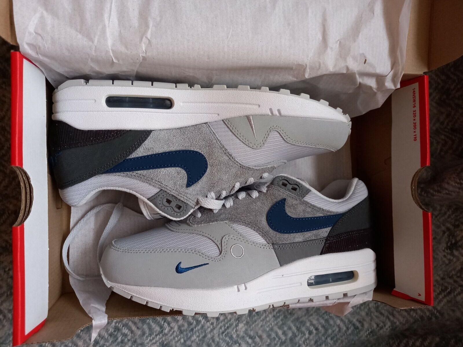 Nike Air Max 1 LONDON / UK 6 / New with box / Smoke Grey / Valerian Blue