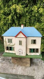 Details About Beautiful Antique Vintage Wooden Dolls House With Opening Doors