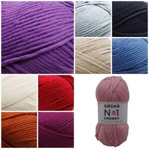 Sirdar-No-1-Chunky-Beautifully-Soft-Knitting-Crochet-Wool-Yarn-100g